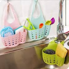 Portable Home Kitchen <b>Hanging</b> Drain Bag Basket <b>Bath</b> Storage ...