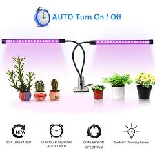 <b>100 LED Dual Head</b> Plant Growth Light 360° Full Spectrum Indoor ...