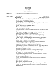 resume overview samples sample resume objective statements resume overview samples sample resume reception training manual