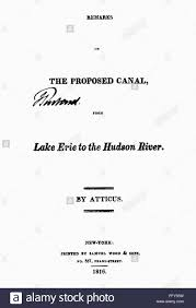 erie canal report ntitle page of a report by atticus pen ntitle page of a report by atticus pen