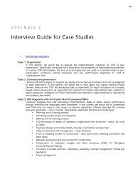 appendix c interview guide for case studies civil integrated page 81