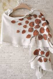 Елена Ост ShellenDesign | Eco print scarf, Felted scarves
