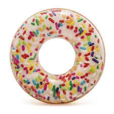 <b>Круг надувной</b> Intex <b>Пончик</b> с глазурью 56263NP, 114 см в Москве ...