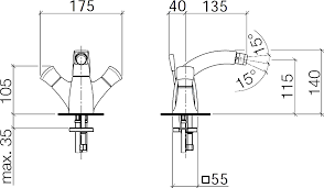 <b>Смеситель</b> Villeroy & Boch (<b>Dornbracht</b>) Square 24.510.910.00 для ...