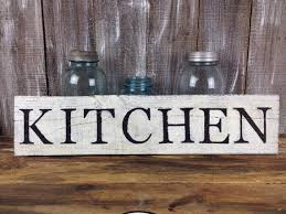 wood sign glass decor wooden kitchen wall: rustic kitchen sign reclaimed white wood sign farmhouse style country living decor