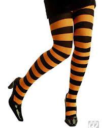 Neon <b>orange striped</b> tights   <b>Sexy</b> Tights   horror-shop.com