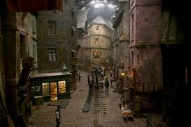 les misérables was the first film to shoot on the newly built they filmed part of les misérables at pinewood studios using a rebuilt version of the diagon alley set in harry potter the crooked building is gringott s