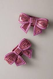 <b>Girls Glitter Bow Barrettes</b>