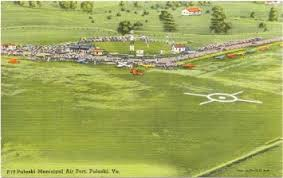 1940s vintage postcard pulaski municipal airport pulaski virginia antique pulaski apothecary style