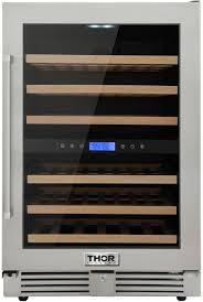 <b>Thor</b> Kitchen TWC2401DO 24 Inch Dual Zone Wine Cooler in ...