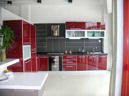 Red Tile Paint For Kitchens Kitchen Awesome White Tray Ceiling With Flax Wall Paint Plus Red