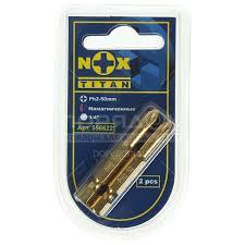<b>Набор бит Nox Titan</b> 556622 Ph 2, 50 мм, 2 шт в Москве: отзывы ...