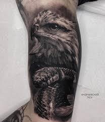 <b>Орёл</b>, змея, тату Челябинск, <b>black</b> and <b>gray</b>, tattoo, Андриевский ...