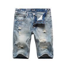 2018 <b>Summer Fashion Men's</b> Jeans Shorts White Color Big Pocket ...