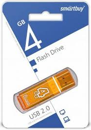 <b>Флешка 4Gb Smart Buy</b> Glossy USB 2.0 оранжевый SB4GBGS-Or ...