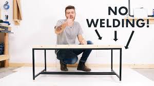DIY Metal-Based Coffee Table w/ NO WELDING!! | <b>Modern</b> Builds ...