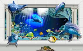 dolphin post online dolphin post for custom large murals fabric 3d wall paper sitting room bedroom tv sofa background under sea world cute post dolphins europe type