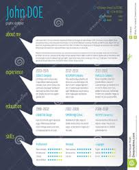 modern resume cv template speech bubbles stock vector image modern resume cv template speech bubbles