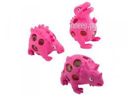 <b>Игрушка антистресс</b> Эврика Динозавры набор 3шт Pink 99423
