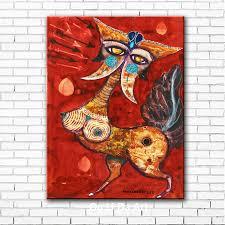 abstract color <b>cartoon animal</b> horse landscape <b>canvas</b> printings oil ...