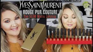 <b>YSL ROUGE PUR COUTURE THE SLIM</b> MATTE LIPSTICKS | 16 ...