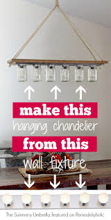diy chandelier from hollywood style vanity light the summery umbrella on remodelaholic bathroom vanity lights pendant lamps