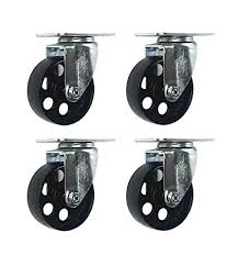 3 inch Metal Swivel Steel Caster No Brake (4 Pack ... - Amazon.com