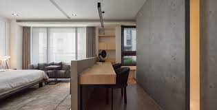 concrete home office home office early