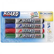 <b>Crown Набор</b> маркеров для магнитных досок CBM-1000 ...