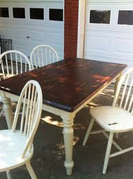 Restaining Kitchen Table Oak Table Refinished With Java Stain Furniture Repair Grand