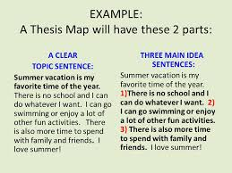 a paragraph into an essay part one restate the question read the  example a thesis map will have these  parts a clear topic sentence