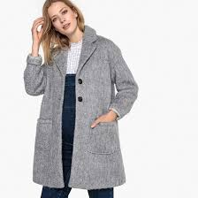 <b>Пальто средней</b> длины из полушерстяной ткани для периода ...