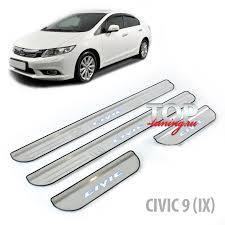 <b>LED накладки на</b> пороги Steel Grace на Honda Civic 9