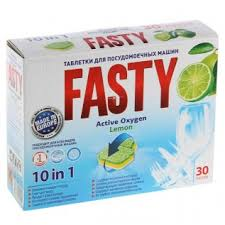 <b>Таблетки для</b> посудомоечных машин <b>Fasty</b> 10в1 Active Oxygen ...