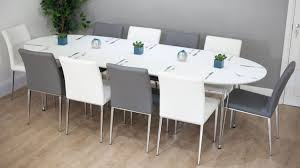 dining sets seater:   ellie white oval extending table