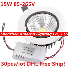 15w recessed led downlight cob led ceiling lamp bathroom down lighting lamp 85 bathroom down lighting