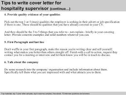 hospitality supervisor cover letter 4 tips to write cover letter for hospitality cover letter for hospitality job