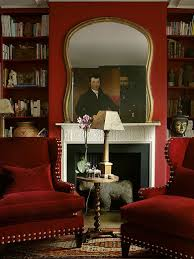 room paint red: red library study by john charles