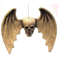 Halloween <b>Skull</b> With <b>Wings</b> Bones Hanging - Decorative Figurines ...