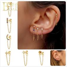 <b>BOAKO</b> Trendy 925 <b>Silver Earrings For</b> Women/Men Cross <b>Earrings</b> ...