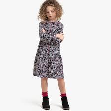 <b>Платье струящееся</b> с длинными рукавами с принтом, 3-12 лет ...