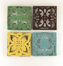 tree scene metal wall art: contemporary metal wall art quotmoroccan four coloured squaresquot in art sculptures contemporary  now ebay