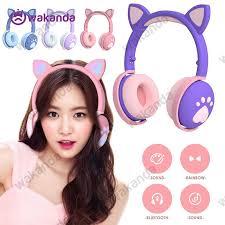New 2020   NEW <b>BK1</b> Cat Ear <b>Headset</b> With <b>Bluetooth</b> Led Light ...