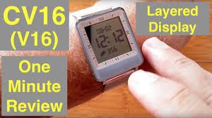 <b>CV16</b> (V16) Dual LCD/IPS Screen 3ATM Waterproof <b>Blood</b> Pressure ...