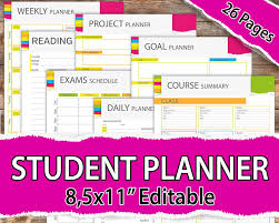 2017 study calendar sheets 2017 calendar printable templates for excel college student planner 2017 student by allprintabledesigns