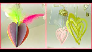 *<b>Valentine's Day</b> Crafts*: <b>3D</b> Heart Ornaments! - YouTube