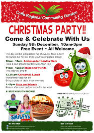 christmas party event poster coffs regional community gardens christmas party event poster
