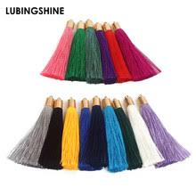 olingart 10pcs lot 20mm handmade craft leather tassel for earrings accessories or parts diy jewerly making by yourself