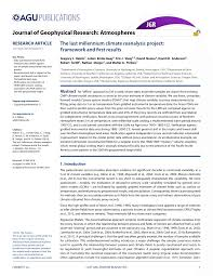 (PDF) The last millennium climate reanalysis project: Framework ...