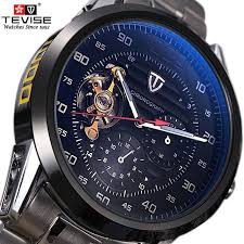 <b>mens watches top</b> brand luxury <b>TEVISE</b> Automatic Winding ...
